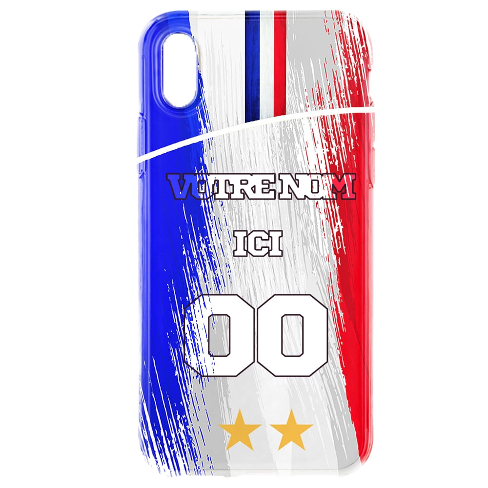 Coque Foot France iPhone XR a customiser