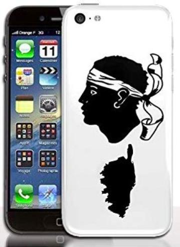 p 1 0 9 109 Coque iPhone 5C Drapeau Corse En Silicone Souple