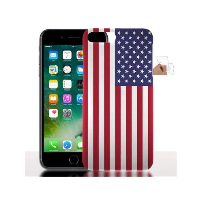 p 1 4 0 140 Coque iPhone 7 8 PLUS Silicone Drapeau USA