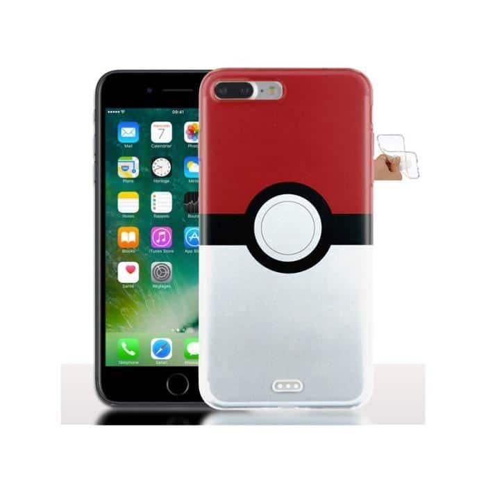 p 1 4 3 143 Coque iPhone 7 8 PLUS Silicone Pokeball Modele 5.5 Pouces
