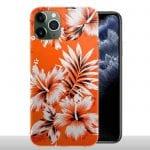 Coque Silicone iPhone 11 / 11 PRO / 11 PRO MAX Fleurs Oranges