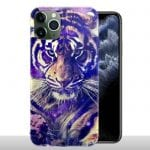 Coque iPhone 11 / 11 PRO / 11 PRO MAX Tigre Bleu / gel Tpu