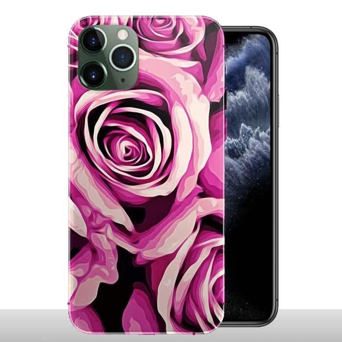 Coque iPhone 11 / 11 PRO / 11 PRO MAX Fleurs Roses / Silicone / Floral