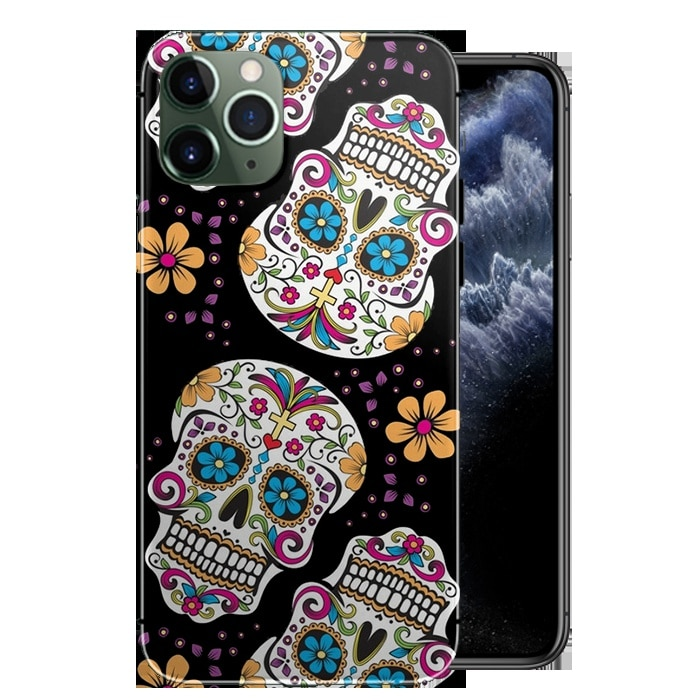 Coque iPhone 11 Tête de Mort Mexicaine|iPhone 11 PRO, MAX|En gel silicone