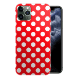 Coque iPhone 11 Rouge a Pois Blancs / Silicone / Girly / PRO / PRO MAX
