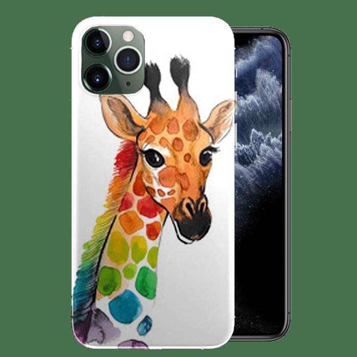Achat coque de télépone Girafe Multicouleurs pour iPhone 11