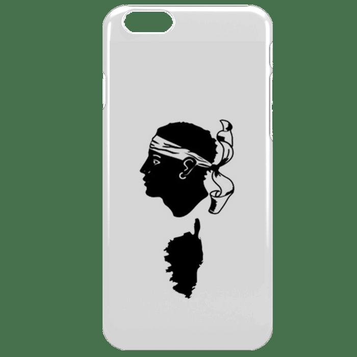 Coque Antichocs pour iPhone 7 Corse - Blanc, Noir - Tpu, Plexi