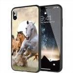 Chevaux au Galop - Coque personnalisée iPhone X, Xr, Xs, iPhone 11, SE 2020, iPhone 8, iPhone 8 Plus