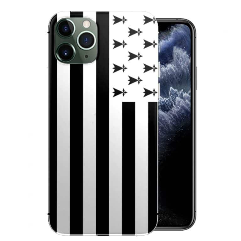 Coque pour iPhone 11 Pro Drapeau Bretagne - Disponible pour iPhone 11 PRO MAX