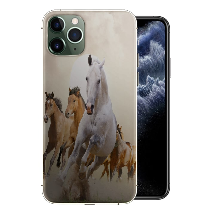 Coque iPhone 12 Chevaux au Galop, disponible pour iPhone 12 MAX, iPhone 12 PRO, PRO MAX