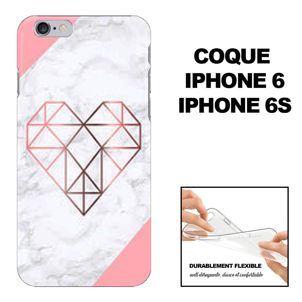 Coque iPhone 6 Marbre Coeur