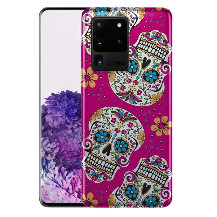 Tête de Mort Mexicaine Rose - Coque de S20, S20 Plus, S20 ultra Samsung