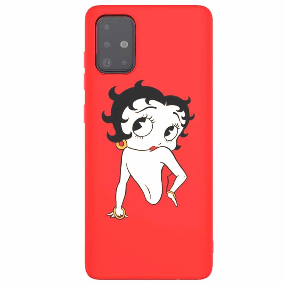 Coque Betty Boop Samsung A51   Silicone   Dessin Animé