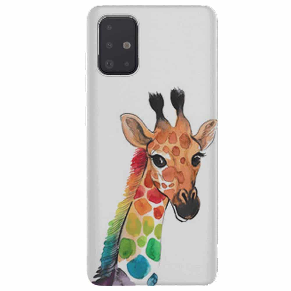 coque tel samsung a51 Girafe Colorée | Animal Funny