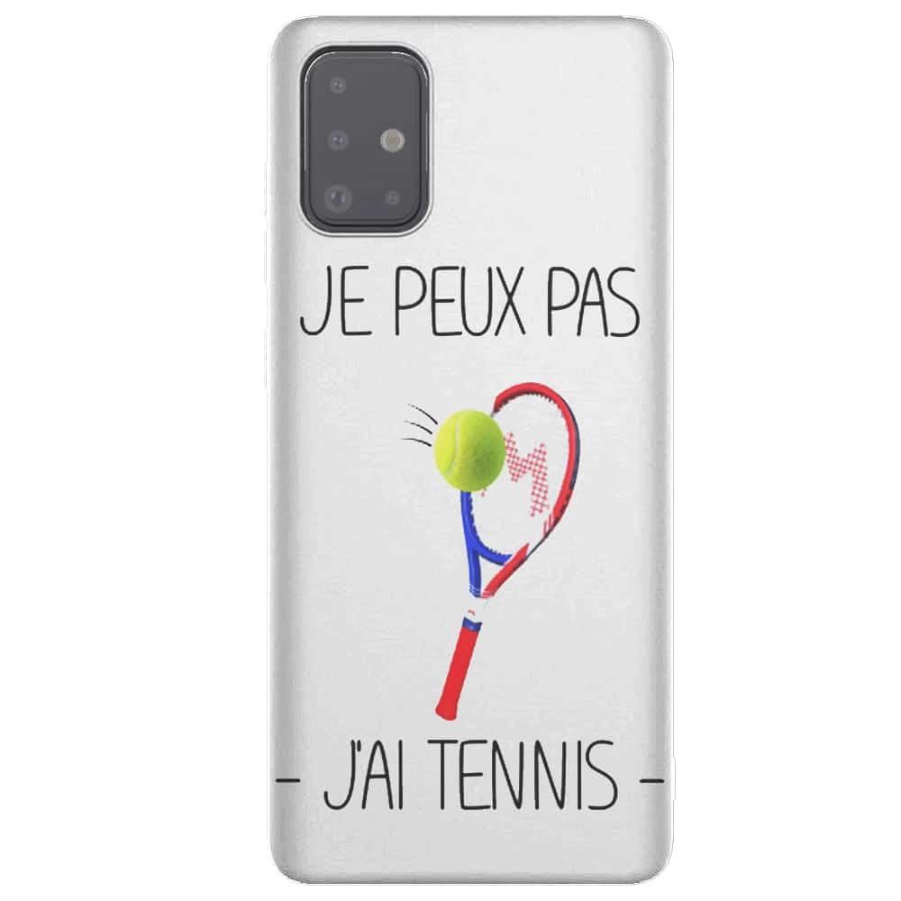 Je peux pas j'ai Tennis | Tpu Antichocs | Etui pour Samsung Galaxy A51 Original | Collection Sport Balle Jaune