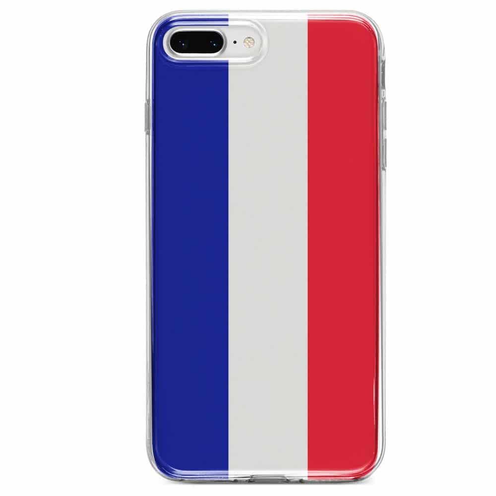 Coque iPhone SE 2020 Drapeau Français Silicone