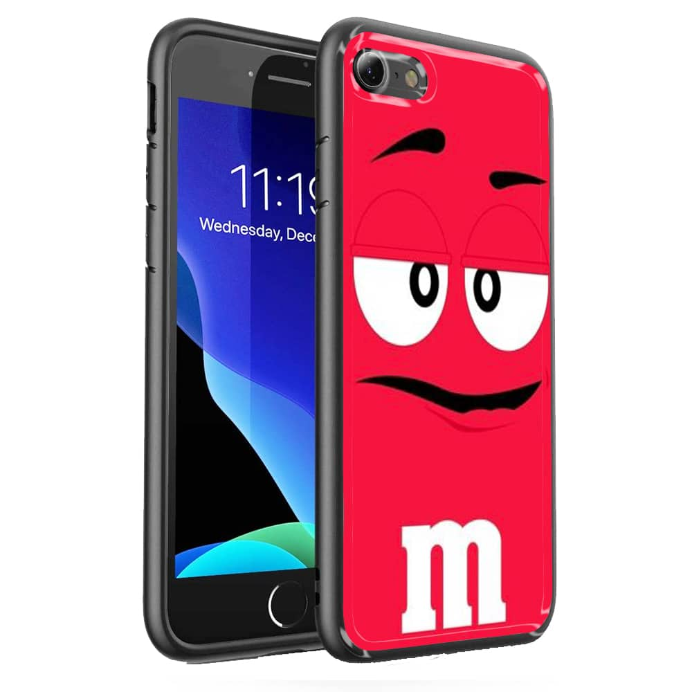 Coque iPhone SE 2020 MMs Rouge Verre Trempé