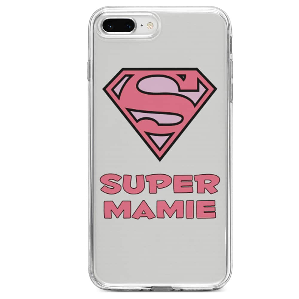 Coque iPhone SE 2020 Super Mamie Silicone