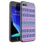 Coque en Verre Trempé Tribalfest pink and purple aztec pour iPhone SE 2020