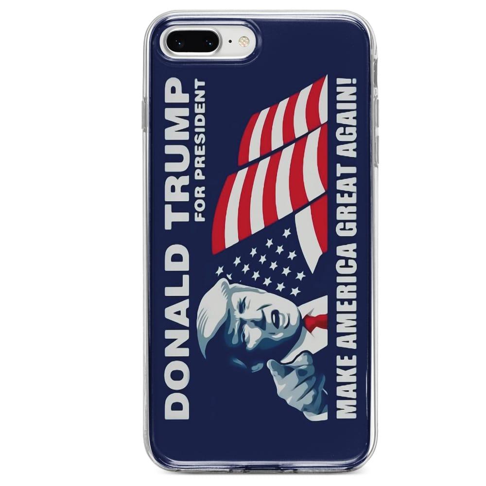 Coque iPhone SE 2020 donald trump make america great again Silicone