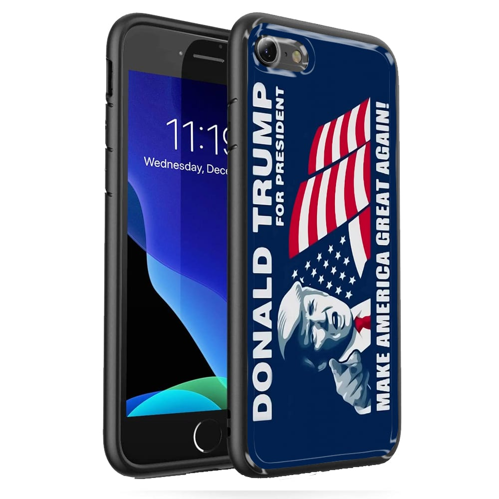 Coque iPhone SE 2020 donald trump make america great again verre trempe