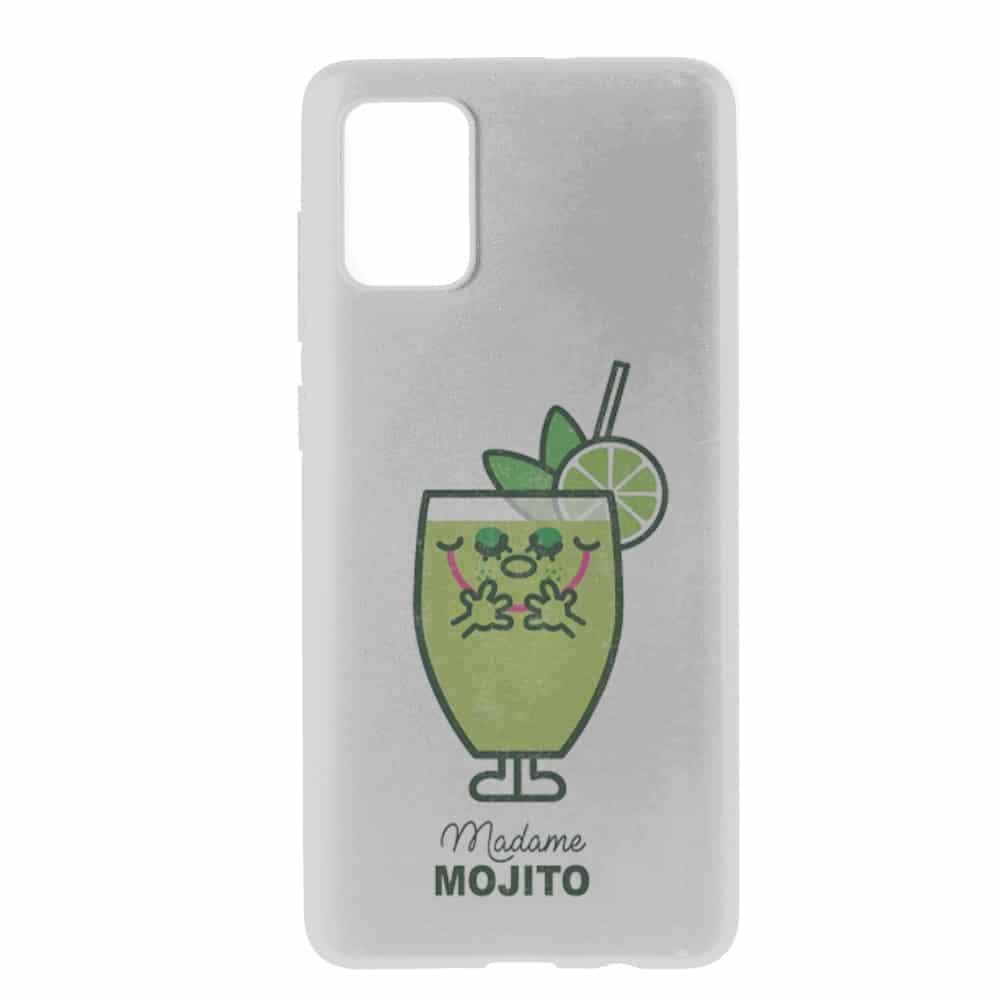 Madame Mojito   Coque Samsung A71   Etui pour Samsung A71   Housse Gel Silicone Motif Boisson