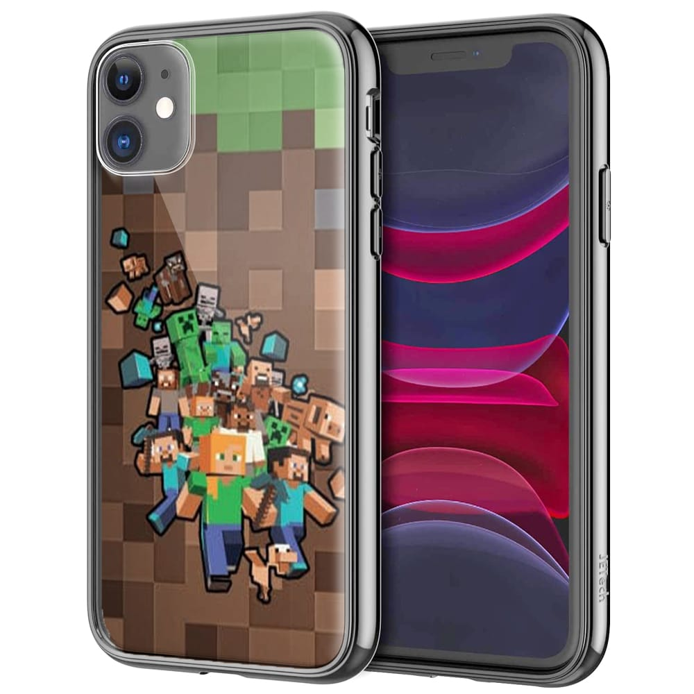Coque Minecraft Creeper   iPhone, Samsung, Huawei   Silicone, Verre