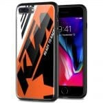 Coque Verre Trempé KTM Orange Black Racing pour iPhone 7 Plus - iPhone 8 plus
