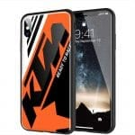 Coque Verre Trempé IPhone XR KTM Racing Orange