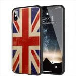 Coque drapeau Union Jack Vintage pour iPhone XR en Verre Trempé