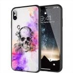 Coque Color Skull pour iPhone XR en Verre Trempé